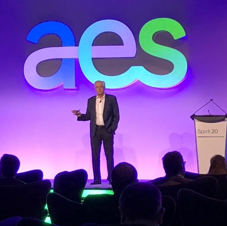 aes leader talking on stage